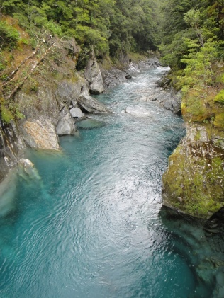 New Zealand. Blue Pools, Mt Aspiring National Park.