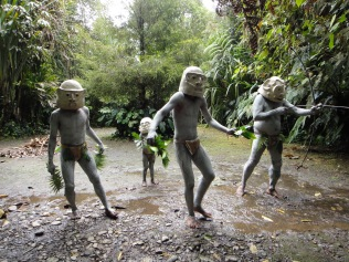 Papua New Guinea. Asaro Mud Men, Mount Hagen.
