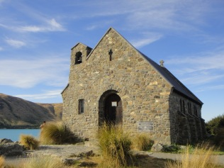 New Zealand. Church of the Good Shepherd, Lake Tekapo.